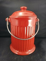 Red Fire Hydrant Dog Treat Biscuit Jar Canister  - $23.76