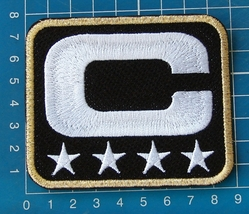 SUPERBOWL NFL TEAM LEADER JERSEY CAPTAINS BLACK PATCH GOLD  - $15.00