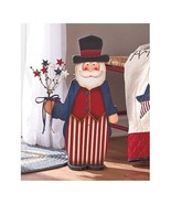 2-Foot Tall Wood Standing Decorative Uncle Sam Standee - Red White Blue ... - €45,53 EUR