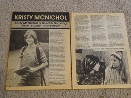 Kristy Mcnichol teen magazine pinup clipping buddy into beauty back pack Bop
