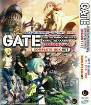 Gate Jieitai Kanochi Nite, Kaku Tatakaeri SEA 1 + 2 (1-24 END) DVD Ship From USA