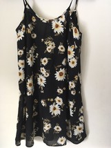 FOREVER 21 BLACK rayon dress with flowers. Size XS. - $7.99