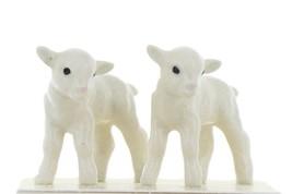 Hagen Renaker Miniature Lamb Babies Set of 2 Ceramic Figurines image 1