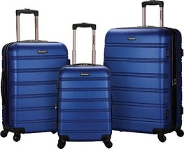 Rockland Melbourne 3 Piece Luggage Set $480 - NEW - FREE SHIPPING - in Blue - $184.09