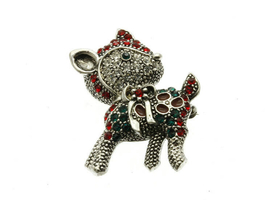 Crystal Stone Paved Reindeer Pin and Brooch - $11.95