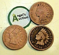 Indian Head Penny 1888, 1889, and 1890 AA20-CNP2128 Antique image 2