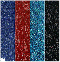 48 Red Blue Black Mardi Gras Beads Bills Jaguars Playoffs Football Tailgate - $19.69 CAD