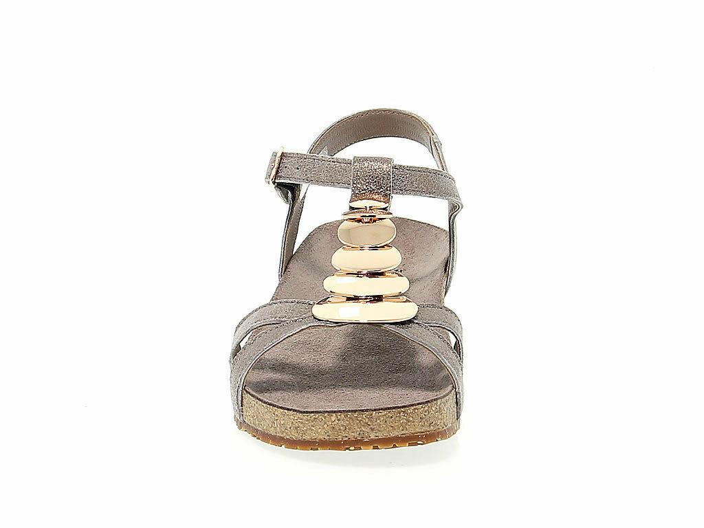 Sandalo basso MEPHISTO IRMA P in camoscio taupe - Scarpe Donna