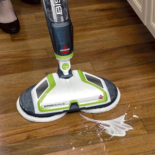 Floor Mop Power Spin Pads Cleans Wood Hard Floors Spray