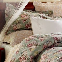 RALPH LAUREN CHARLOTTE FLORAL TWIN COMFORTER 100%COTTON MADE IN USA GREE... - $98.85