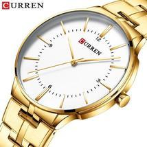 CURREN 8321 Mens Watches Fashion Full Steel Men Watch Waterproof Wristwatches Qu - $37.18