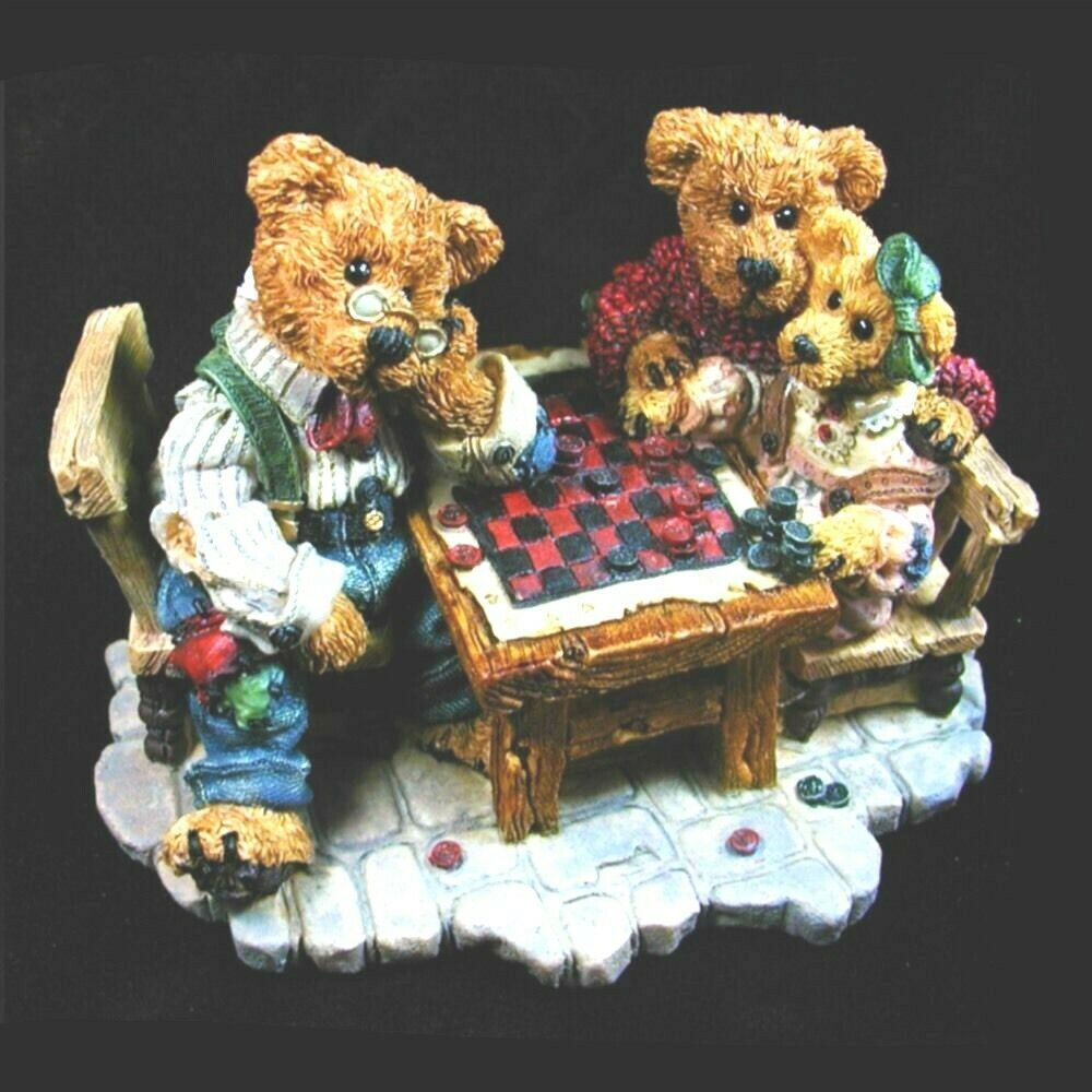 "Boyds Bearstone ""Grenville & Matthew...Sunday Afternoon"" #2281- LE- NEW- 1996"