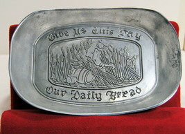 Vintage Wilton Pewter Give Us This Day Our Daily Bread Platter Plate COL... - $14.95