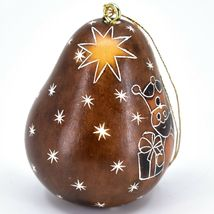 Handcrafted Carved Gourd 3 Kings Nativity Gifts Christmas Ornament Made in Peru image 3