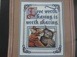 "Started Dimensions LOVE WORTH HAVING Cross Stitch KIT #3806 - 10"" x 13"" - $10.00"