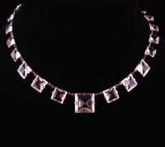 1920s Art deco necklace - Antique Rock Crystal Choker - signed choker - ... - $245.00