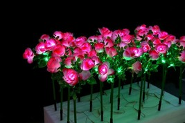 "27.5"" PINK LED rose flowers Light wedding holiday party birthday new year Decor - $197.99"
