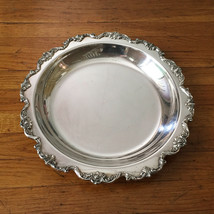 "Wallace - Royal Rose - #9822 Silverplate 14"" Salver Serving Tray - Hard To Find - $49.99"
