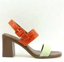 Tory Burch Women Slingback Sandals Size US 7M Garden Sage Desert Spice Leather - $129.94