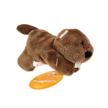 MagNICI Beaver Theo Brown Stuffed Toy Animal Magnet in Paws 5 inches - $11.00