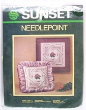 """Sunset Needlepoint Ivory Lace Advanced Pillow Picture Kit, 12"""" x 12"""", #6316 - $16.99"""