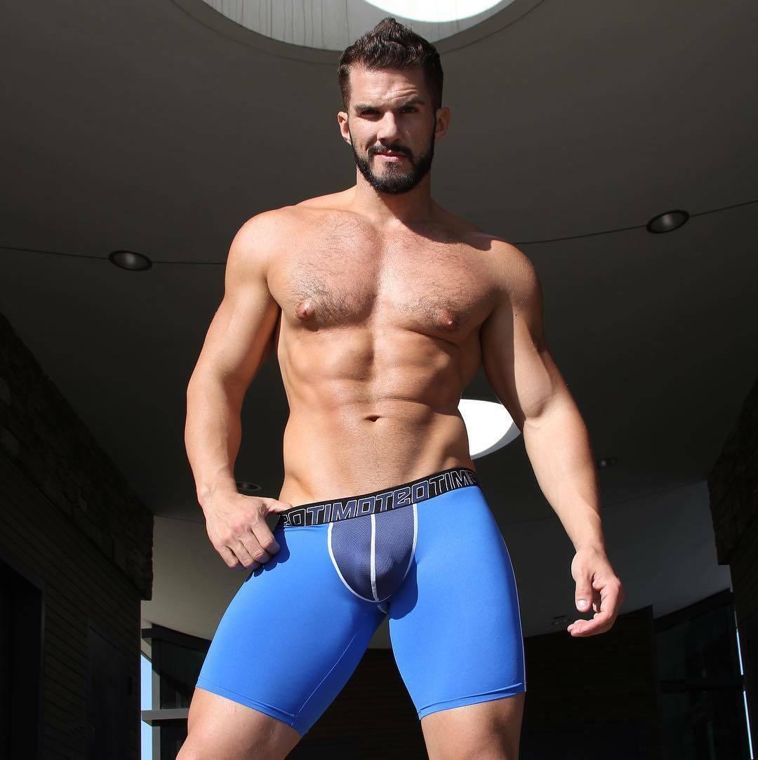 "Timoteo Blue Aero-Tech Short Designed in LA ""Large"""