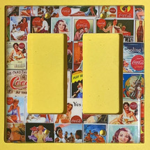 Coke Coca Cola Old posters Light Switch Power Outlet Wall Cover Plate Home decor image 3