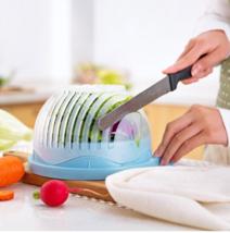 Salad Cutter Bowl Easy Salad Maker Tools Fruit Vegetable Chopper Kitchen... - $11.48