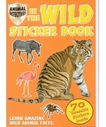 In the Wild Sticker Book (Animal Detectives) 70 Reusable Stickers Paperb... - $5.93