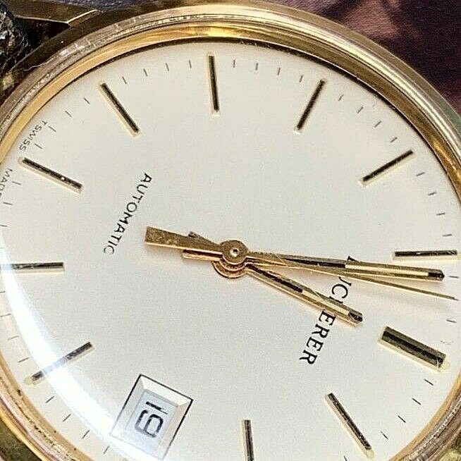 BUCHERER SWISS AUTOMATIC 25 JEWEL DATE COMPLETE SERVICED NICE WATCH image 6