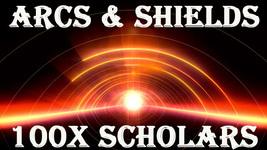 100X 7 SCHOLARS ARCS & SHIELDS OF LIGHT MAGICK PROTECT HEAL MASTER MAGICK  - $99.77