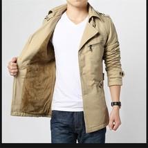 Autumn and Winter Men's Fashion Long Sleeve Windbreaker Jacket Winter Co... - $55.90