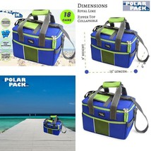 Collapsible Cooler Bag 18 Can Double Handle Soft Portable Insulated Picn... - $22.46