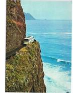 Portugal Postcard Madeira S Vicente Porto do Moniz Street Between Two Vi... - $2.18