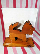 Neat Vintage Googly Eye Scotty Dog Wooden Napkin Holder or Pad Pencil Ho... - $18.00