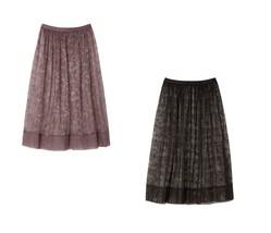 NWT VS Victoria's Secret Floral Lace Midi Skirt Cocoa Blush and Black - $24.39+