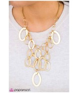 """New Gold Plate Large Chain Necklace, Statement Necklace, 18"""", Paparazzi ... - $4.00"""