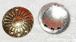 SHIELD ONE TO THREE HOLE FINE PEWTER EARRING PART 18 x 22 x 2mm image 4