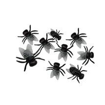 Black Halloween Plastic Flys 20pcs Joking Toys Tricky Prop Tool Simulati... - $2.69