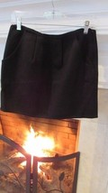 J. Crew Black Felt Wool Mini Skirt Sz 2 Compare at $98.00 - $28.71