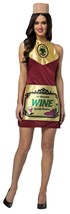 Wine Bottle Womens Costume Dress Adult Alcohol Wino Halloween Unique GC6333 - $47.99