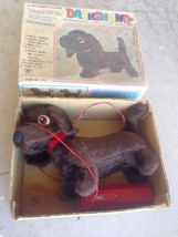 Vintage Cheerful Dachshund Puppy Remote Battery Operated Dog Original Bo... - $64.35