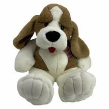 "Commonwealth Plush Hound Dog Saint Bernard Brown Tan White Black Nose 1993 24"" - $49.45"