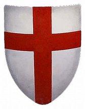 NAUTICALMART Crusades Medieval Shield - 16 Gauge Steel Battle Ready - White - On - $137.61