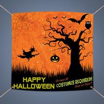 HAPPY HALLOWEEN Banner, Outdoor Party Decor Pumpkin Scary Vinyl Sign, 3'... - $19.93