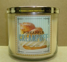 Bath Body Works Pineapple Creampuff 3 Wick Candle 14.5 Oz Jar Sweet Shop - $24.00