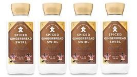 Bath & Body Works Spiced Gingerbread Swirl 24 Hour Moisture Body Lotion x4 - $38.99