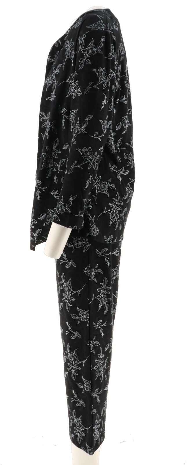 Stan Herman Micro Fleece Novelty Pajama Set Color Black//Natural Size Tall Large