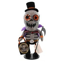 """12"""" Gathered Traditions Trick or Treat Zippered Skeleton Decorative Hall... - ₨1,743.77 INR"""