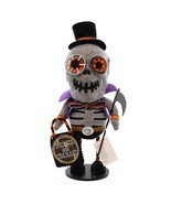 "12"" Gathered Traditions Trick or Treat Zippered Skeleton Decorative Hall... - £20.74 GBP"